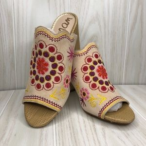Sam Edelman Floral Embroidered Heeled Mules